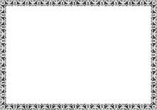 Isolerad rambakgrundsmall för certifikat Royaltyfria Bilder