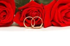 isolerad red ringer gifta sig white för ro två Royaltyfri Bild