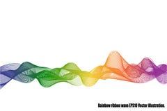 Isolerad regnbågebandvåg Arkivbild