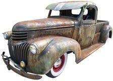 Isolerad Retro lastbil för gammal tappning, Chevy, Chevrolet arkivfoton