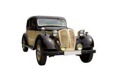isolerad retro tappningwhite för bakgrund bil Royaltyfria Bilder