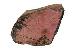 Isolerad Rhodonite mineral arkivfoton