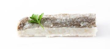 Isolerad rimmad torkad torsk Typisk påskmat Royaltyfri Bild