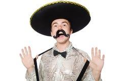 Isolerad rolig mexikan fotografering för bildbyråer