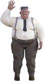 Isolerad rolig sjukligt fet överviktig man Arkivfoto