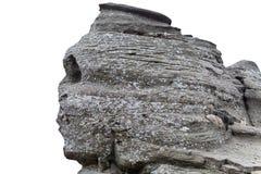 isolerad romanian sphinxwhite Royaltyfria Bilder