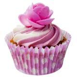 Isolerad rosa muffin Royaltyfri Foto