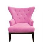 isolerad rosa sofa Fotografering för Bildbyråer