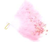 isolerad rosa white för pärlor ventilator Royaltyfria Bilder