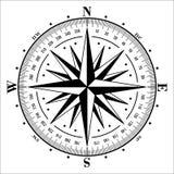 isolerad rose vektorwhite för kompass illustration royaltyfri illustrationer