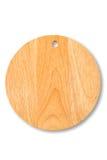 isolerad rund white för bräde cutting arkivbild