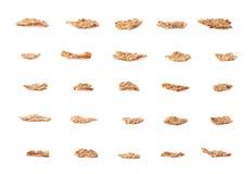 Isolerad sädes- flinga för helt korn Royaltyfria Bilder