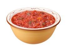 Isolerad salsabunke Fotografering för Bildbyråer