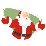 Isolerad Santa Claus illustration Arkivfoto