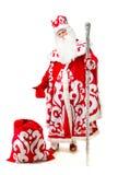 isolerad santa för bakgrund claus white Fotografering för Bildbyråer