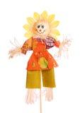 isolerad scarecrowwhite Arkivbild