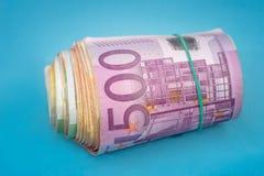 isolerad sedel för euro 500 Arkivbilder