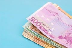 isolerad sedel för euro 500 Royaltyfria Foton