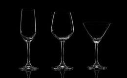 isolerad set white för bakgrund 3d glass illustration Arkivfoto