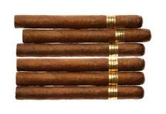 isolerad set white för cigarrer havana Fotografering för Bildbyråer