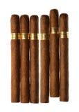 isolerad set white för cigarrer havana Arkivbild
