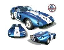Isolerad Shelby Cobra Daytona kupé arkivfoton