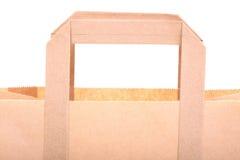 isolerad shopping för påsar brun gåva Arkivfoto