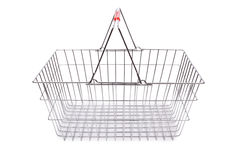 Isolerad shoppingsupermarketspårvagn Arkivfoto