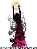Isolerad silhouette av en dansare royaltyfri illustrationer