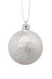 isolerad silver för bakgrund toy jul white Arkivbild