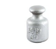 Isolerad silvervikt 500 gr Arkivfoto