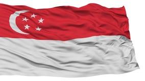 Isolerad Singapore flagga Fotografering för Bildbyråer