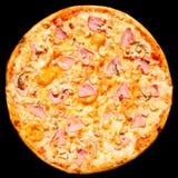 isolerad skinka plocka svamp pizza Fotografering för Bildbyråer
