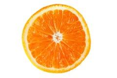 Isolerad skiva av orange frukt Arkivfoton