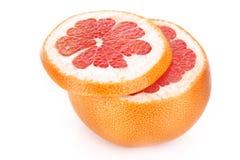 isolerad skiva för grapefrukt hälft Arkivfoton