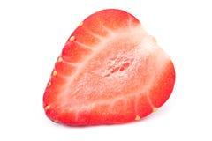 Isolerad skivad jordgubbe Arkivfoton