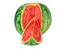 isolerad skivad vattenmelon Royaltyfri Foto