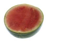 isolerad skivad vattenmelon Arkivbilder