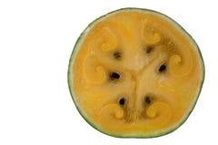 isolerad skivad vattenmelon Royaltyfria Bilder