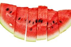 isolerad skivavattenmelon Fotografering för Bildbyråer