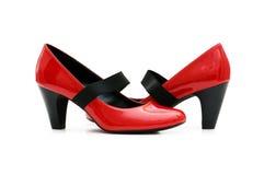 isolerad skokvinna Royaltyfri Fotografi