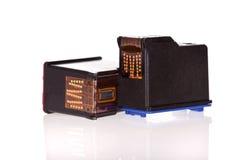 isolerad skrivarwhite för kassetter bläckstrålar Fotografering för Bildbyråer