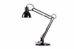 Isolerad skrivbordlampa Fotografering för Bildbyråer