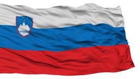 Isolerad Slovenien flagga Arkivfoton