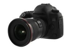 Isolerad SLR kamera på en vit Royaltyfria Foton