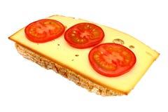 Isolerad smörgås Arkivfoto