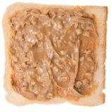 Isolerad smörgås för jordnötsmör Arkivfoto