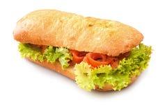 isolerad smörgåswhite Royaltyfri Fotografi