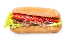 isolerad smörgåswhite Royaltyfri Foto