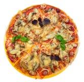 isolerad smaklig white för pizza Royaltyfria Bilder